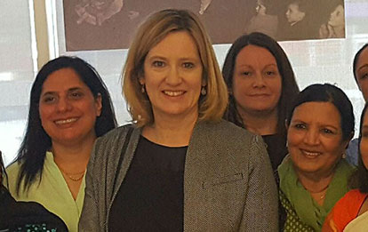 Visit by the home secretary Amber Rudd