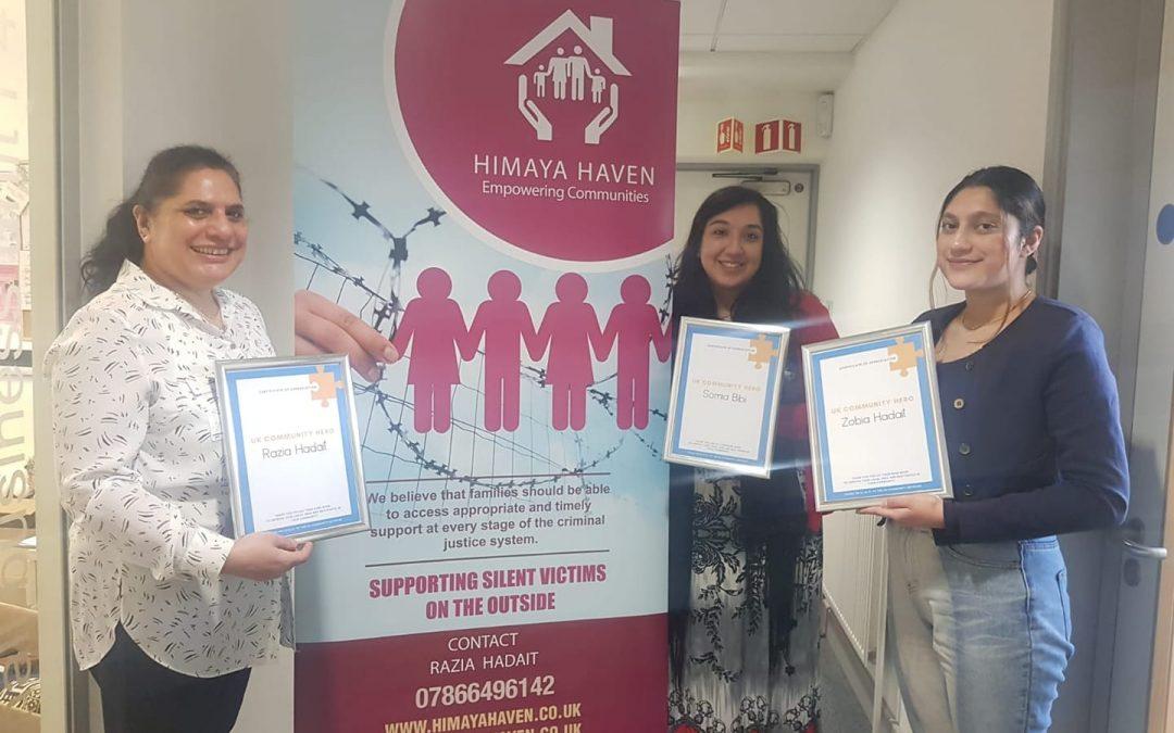 UK Community Heroes Recognition Award